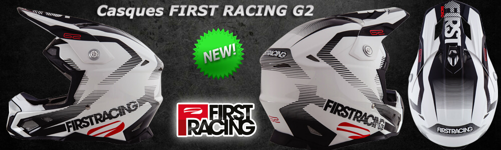 Nouveau - Casques Motocross Enduro FIRST RACING G2