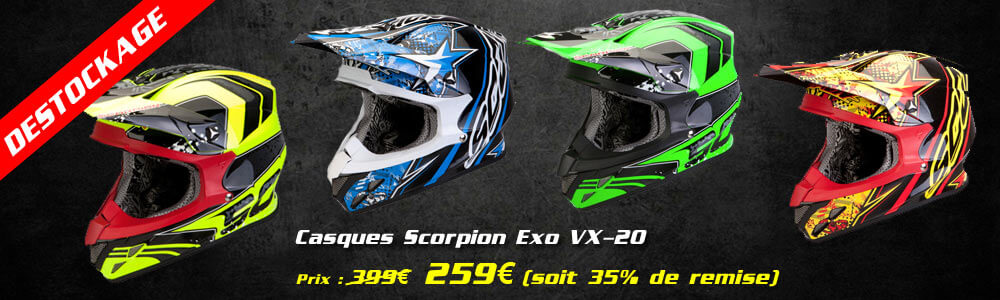 Déstockage Casques Cross Scorpion VX-20