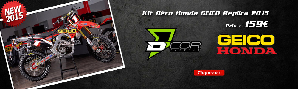 Kit Déco HONDA CRF Team GEICO Replica 2015