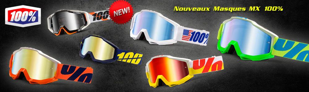 Nouveaux Masques Motocross 100% Accuri Racercraft 2014