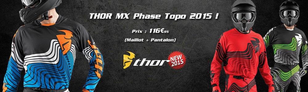 Tenues Motocross Thor MX Phase Topo 2015