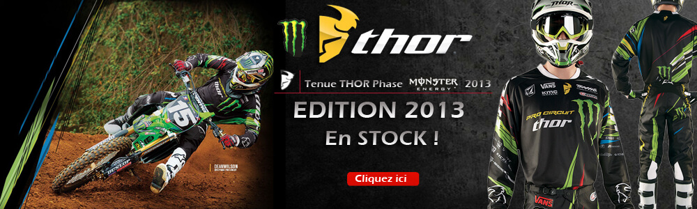 Tenue Complète THOR Phase Monster Pro Circuit Spring 2013 Motocross