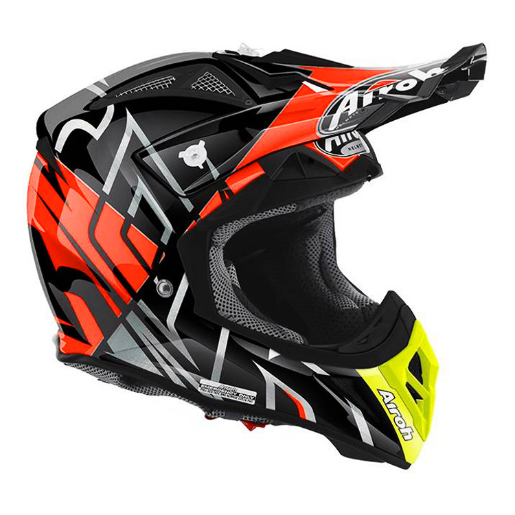 Casque Cross Airoh Aviator 22 Styling Orange Brillant Fx Motors
