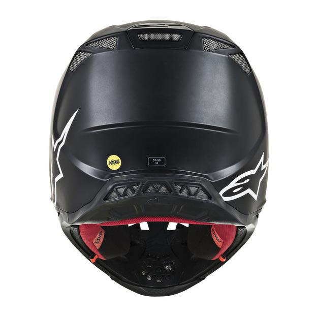 M, Noir Alpinestars Casque Motocross 2019 S-M8 Solid Noir
