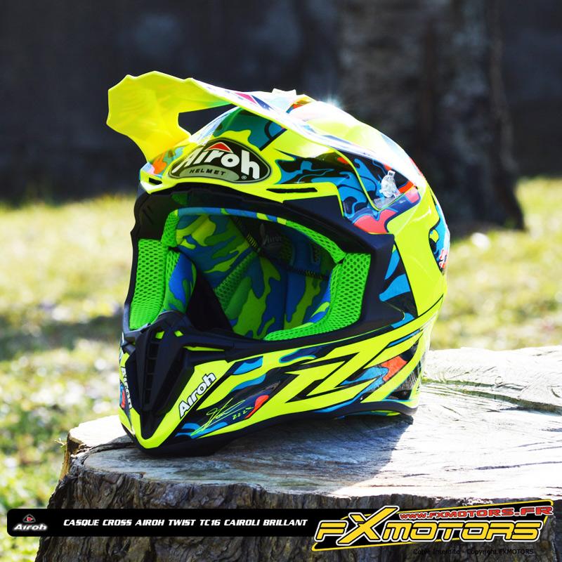 Casque Cross Airoh Twist Tc16 Cairoli Brillant Fx Motors