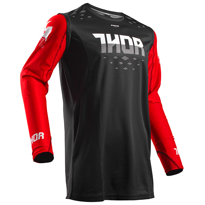 Bien-aimé Tenue Cross THOR MX Prime Fit Rohl Noir/Rouge 2018 - FX MOTORS VC11