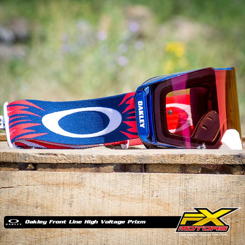 Masque Cross Oakley Front Line MX High Voltage R B - Prizm - FX MOTORS b35cf5a639c6