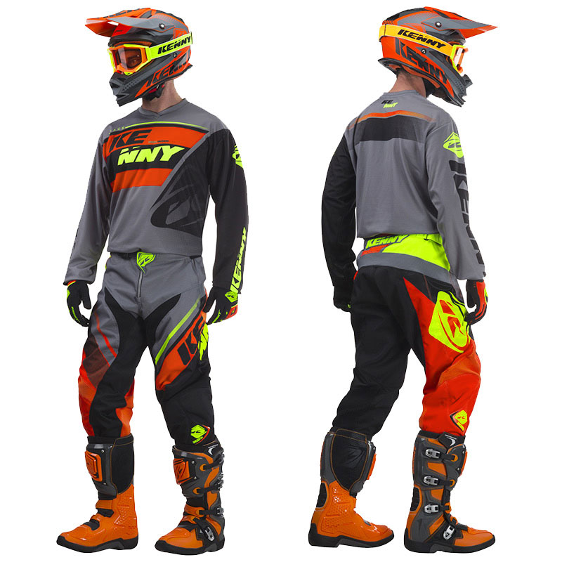 Favori Tenue Cross Kenny Track Gris/Orange 2018 - FX MOTORS UJ35