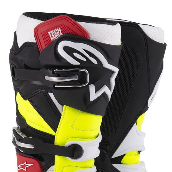 bottes motocross alpinestars tech 7 black red yellow fx motors. Black Bedroom Furniture Sets. Home Design Ideas