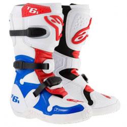Bottes Enfant Motocross Alpinestars Tech 6S White/Blue/Red
