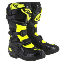 Bottes Enfant Motocross Alpinestars Tech 6S Black/Yellow Fluo