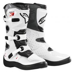 Bottes Enfant Motocross Alpinestars Tech 3S White/Black
