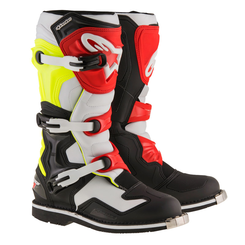 bottes motocross alpinestars tech 1 black white yellow fluo fx motors. Black Bedroom Furniture Sets. Home Design Ideas