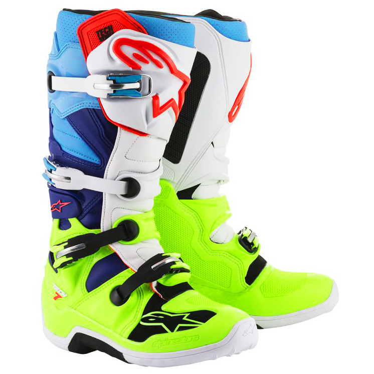 bottes motocross alpinestars tech 7 jaune f blanc bleu. Black Bedroom Furniture Sets. Home Design Ideas