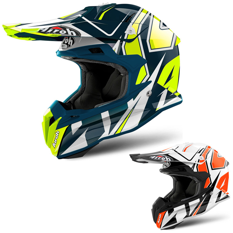 Casque Cross Airoh Terminator Open Vision Shock 2018 Fx Motors