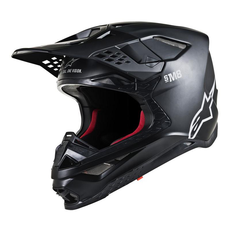 Casque Cross Alpinestars Supertech S-M8 Solid Noir Mat 2019 - FX MOTORS c4665e049a52
