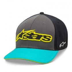 Casquette Alpinestars Circuit Heat Charcoal/Turquoise
