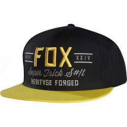 Casquette Fox Racing Obscure Black/Yellow Snapback
