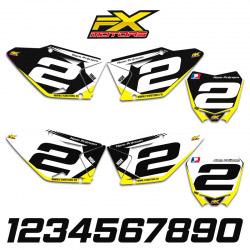 Fonds de Plaques Motocross Perso SUZUKI RM/RMZ Racing Line