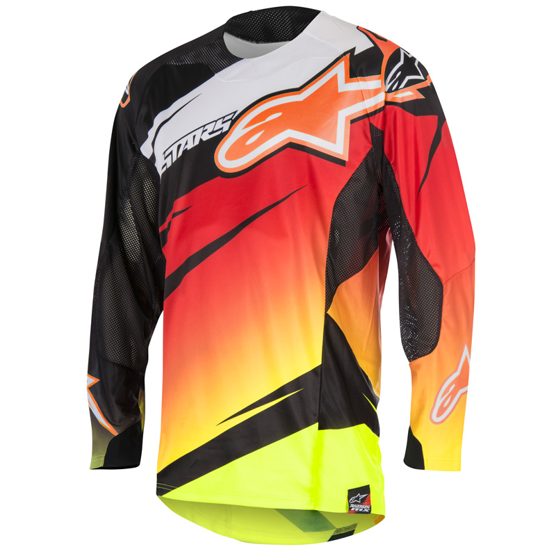 maillot cross alpinestars techstar venom red y fluo black 2 fx motors. Black Bedroom Furniture Sets. Home Design Ideas