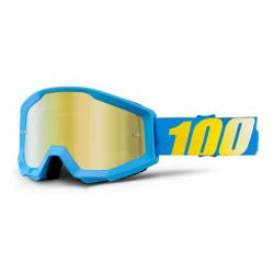 Masque Cross 100% Strata Blue - Mirror Gold