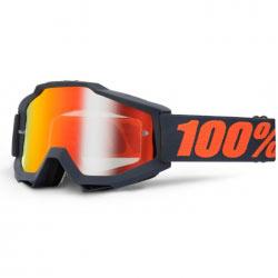 Masque Cross 100% Accuri Gun Metal - Mirror Red