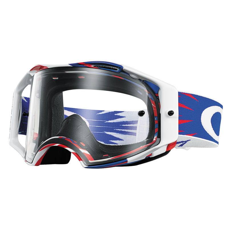 masque cross oakley airbrake mx high voltage red blue white fx motors. Black Bedroom Furniture Sets. Home Design Ideas