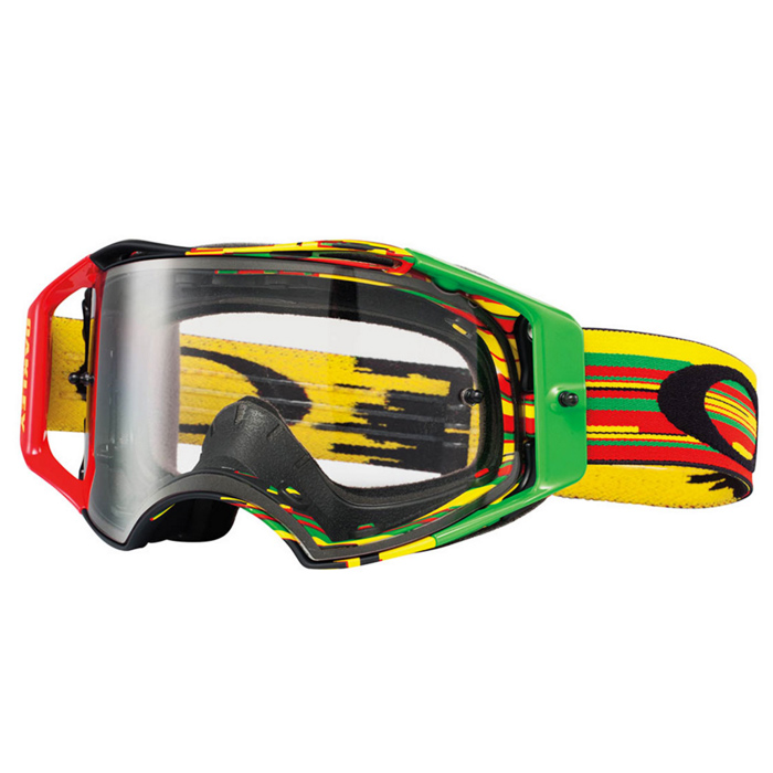 masque motocross oakley airbrake mx glitch rasta clear fx motors. Black Bedroom Furniture Sets. Home Design Ideas