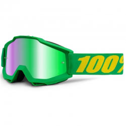 Masque MX 100% Accuri Forrest - Ecran Mirror Green - Motocross
