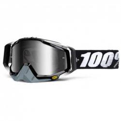 Masque Cross 100% Racecraft Abyss Black - Ecran Mirror Silver