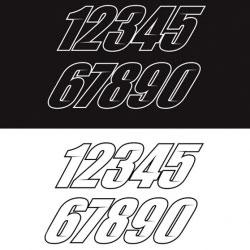 Numéro de course Racing
