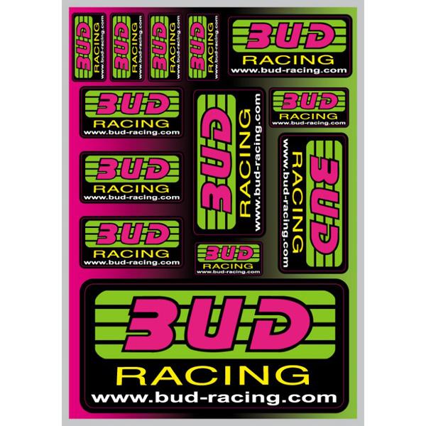 Planche Stickers Bud Racing Classic Logo 21x15cm