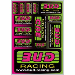 Planche Stickers Bud Racing Classic Logo 21x15cm