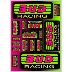 Planche Stickers Bud Racing Classic Logo 21x30cm