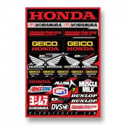 Planche de stickers Team Honda GEICO 2014 - D'COR Visuals.