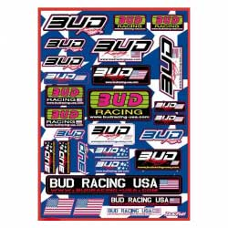 Planche stickers BUD RACING USA - 42x30cm