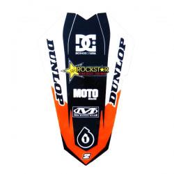 Sticker Garde Boue Arrière Zeronine Rockstar Orange/Black - KTM