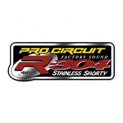 Sticker Silencieux 2 Temps Pro Circuit R-304 Shorty Chromé