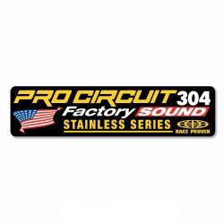 Sticker Silencieux 2 Temps Pro Circuit R-304 Factory