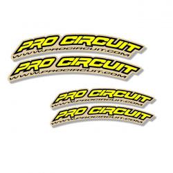 Stickers Garde Boue Avant Pro Circuit Jaune