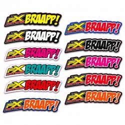 Stickers Garde Boue Avant FX MOTORS BRAAPP !