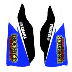 Stickers Protections de Fourche Rockstar Blue/Black - YZ/YZF