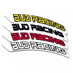 Stickers de Garde Boue Avant Bud Racing - 4 Coloris