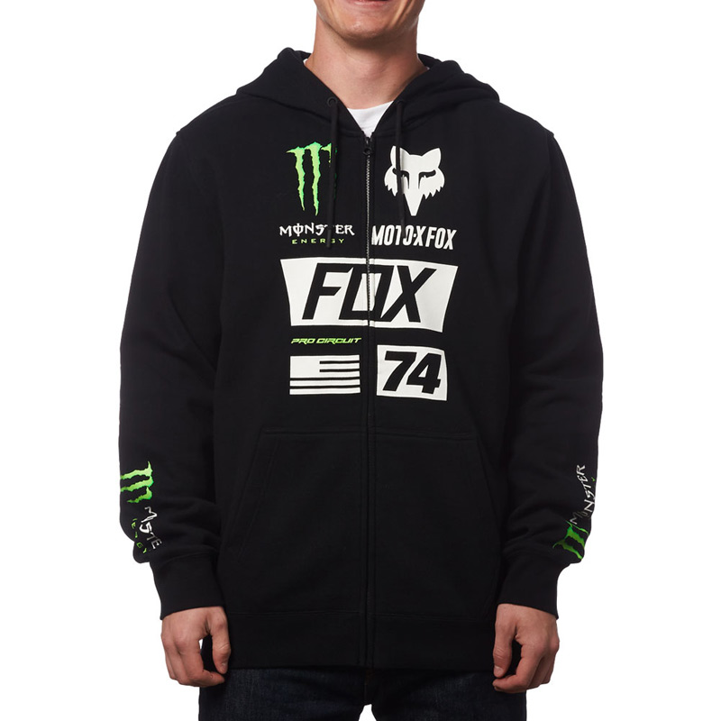 Racing Monster Motors Fox Sweat Union Zippé Fx u1JlFTKc3