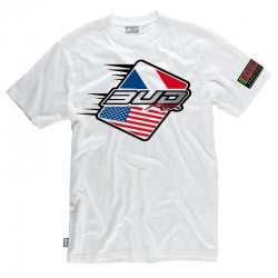 T-Shirt Bud Racing Patriot Blanc