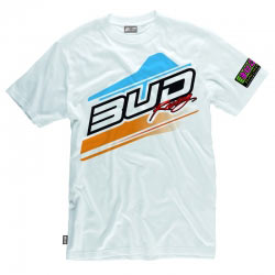T-Shirt Bud Racing Jump Blanc