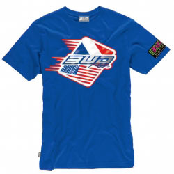 T-Shirt Bud Racing Patriot Bleu