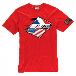 T-Shirt Bud Racing Patriot Rouge