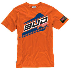 T-Shirt Bud Racing Jump Orange