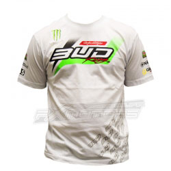 T-Shirt Bud Racing Monster Team 2016 Blanc